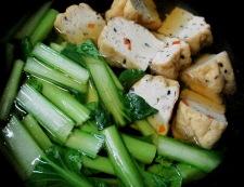 小松菜ひろうす 調理①