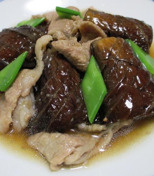 ナスと豚肉のしょうが煮 B
