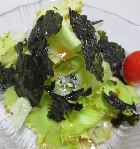 レタスと韓国海苔のサラダ 大