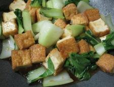 絹揚げと青梗菜のしょうが焼き 調理⑥