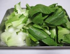 絹揚げと青梗菜のしょうが焼き 【下準備】②