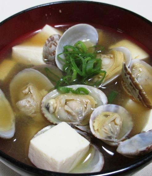あさり豆腐の味噌汁 大