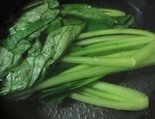 大葉小松菜 調理①
