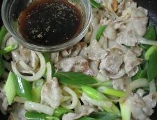 豚肉の黒胡椒しょうが焼き 調理⑤