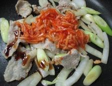キムチ炒め 調理②