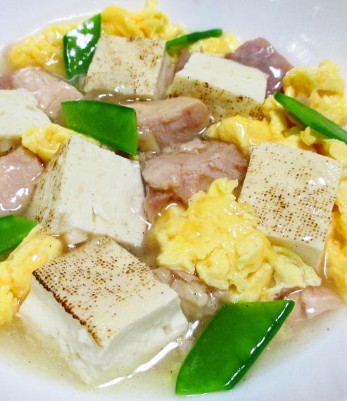 焼き鳥缶と焼き豆腐のうま塩親子煮 B