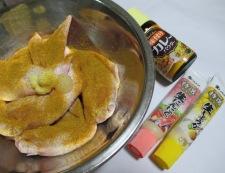 手羽先のカレー風味唐揚げ 調理①