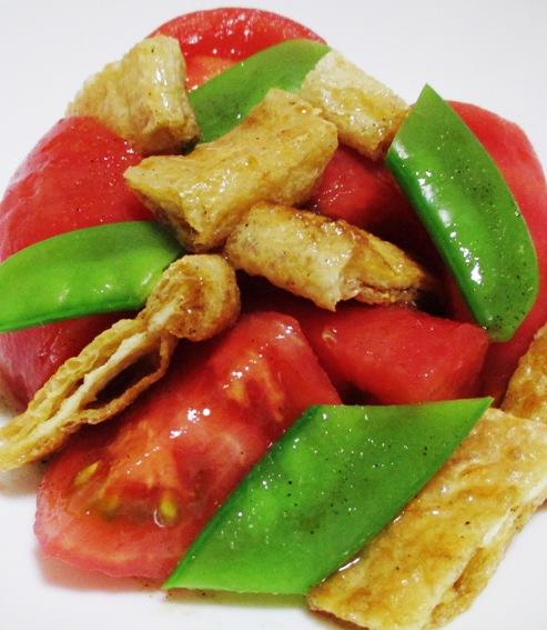 トマトとお揚げのサラダ 大