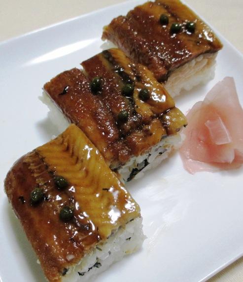 煮アナゴの押し寿司 大