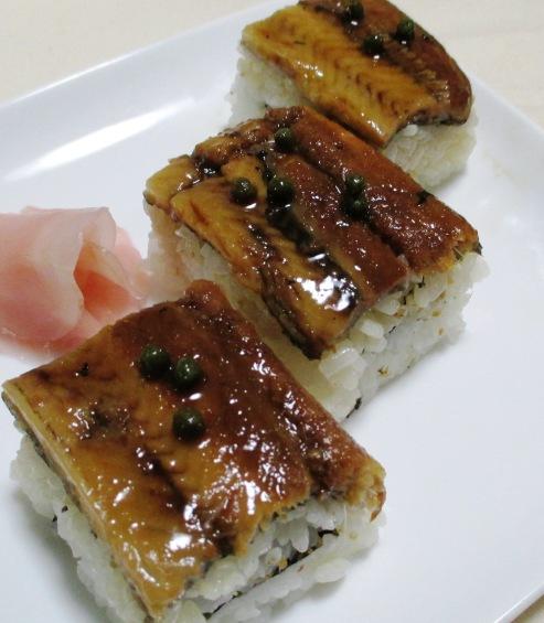 煮アナゴの押し寿司 B