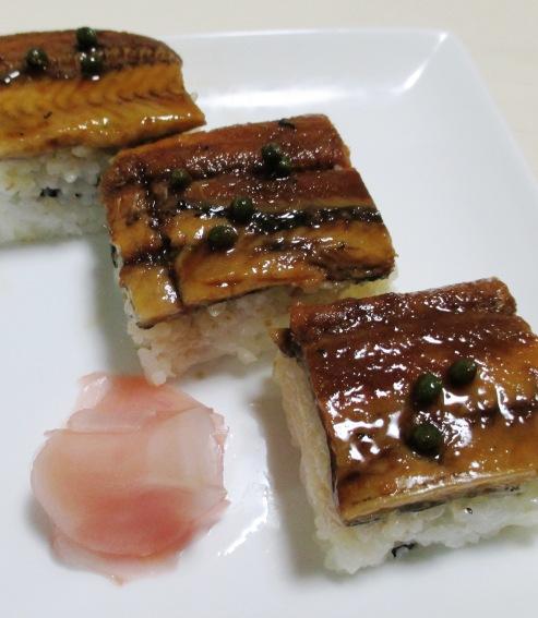 煮アナゴの押し寿司 拡大