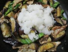 豚こまとナスのおろし炒め 調理⑤