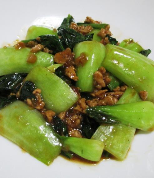 鶏味噌青梗菜 大