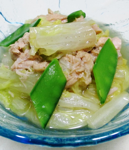 白菜とツナの煮物 大