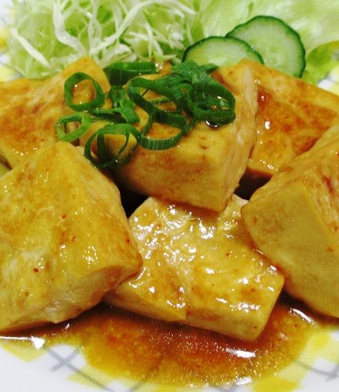豆腐ステーキ一味マヨ照り焼き 大
