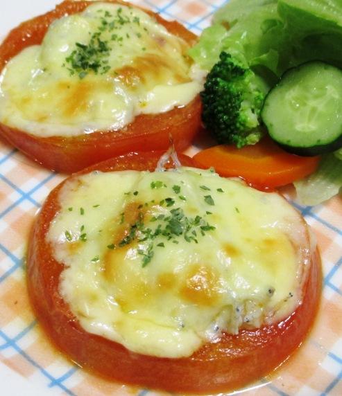 トマトとしらすのチーズ焼き B