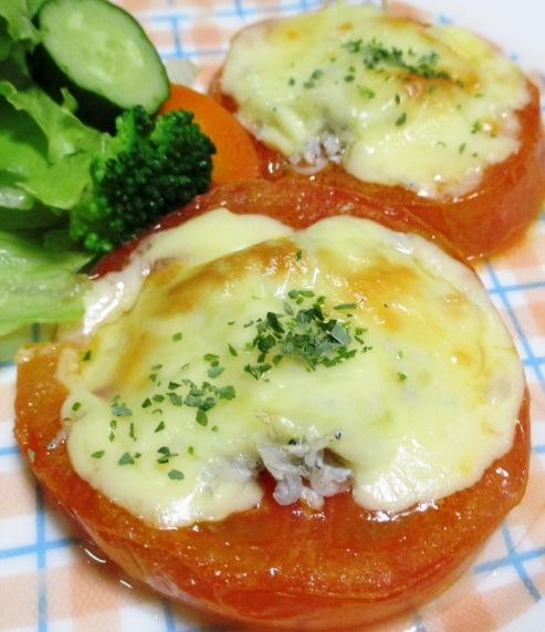 トマトとしらすのチーズ焼き 大