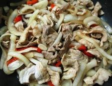 豚こまと玉ねぎの甘辛炒め 調理⑥