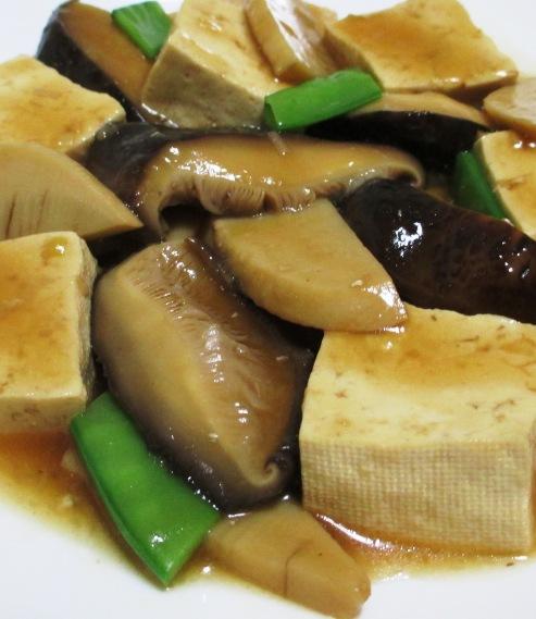 干し椎茸と豆腐のオイスターソース煮 B