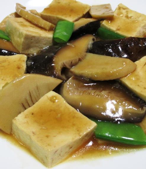干し椎茸と豆腐のオイスターソース煮 拡大