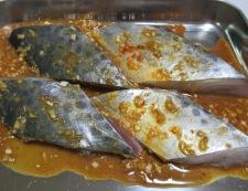 鰆(さわら)のピリ辛焼き 調理③