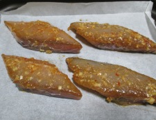 鰆(さわら)のピリ辛焼き 調理④