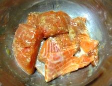 生鮭の竜田揚げ 調理③