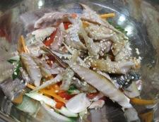 彩り野菜鯵 調理③