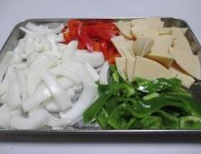 牛肉とピーマンの黒胡椒炒め 調理①