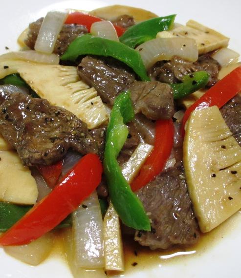 牛肉とピーマンの黒胡椒炒め B