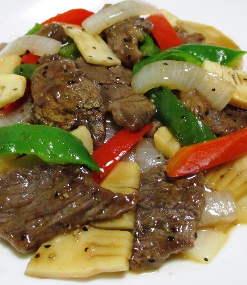 牛肉とピーマンの黒胡椒炒め 拡大