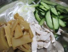 メンマと蒸し鶏のポン酢ペパー和え 調理⑤