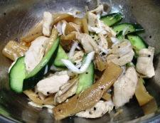 メンマと蒸し鶏のポン酢ペパー和え 調理⑥