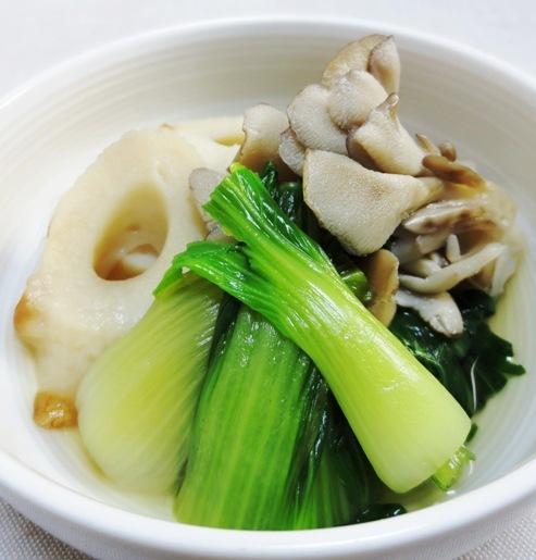 青梗菜と竹輪の煮物 B