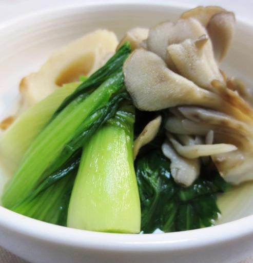 青梗菜と竹輪の煮物 大
