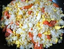 鮭レタス炒飯 調理④