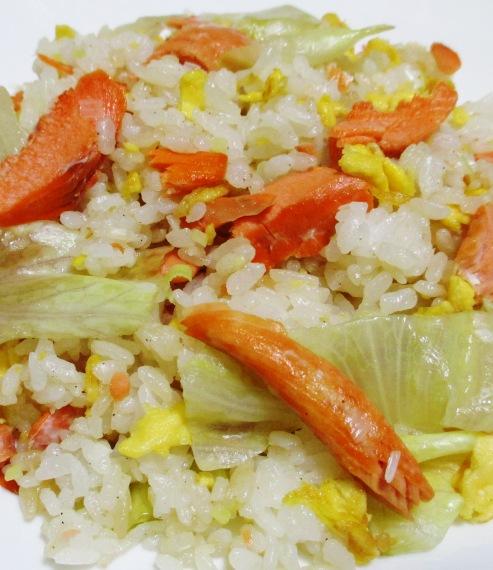 鮭レタス炒飯 大