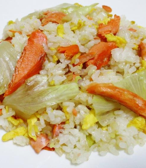 鮭レタス炒飯 B
