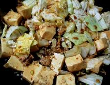 麻婆豆腐キャベツ 調理⑥