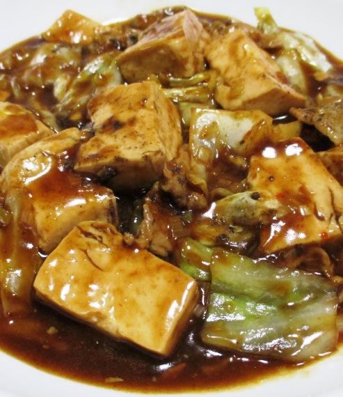 麻婆豆腐キャベツ 拡大