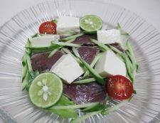 鰹のたたきと豆腐のサラダ 調理⑤
