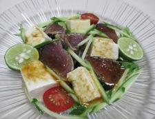 鰹のたたきと豆腐のサラダ 調理⑥