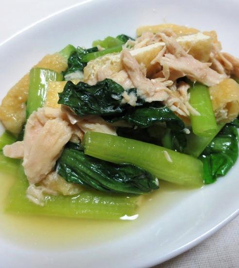 小松菜とツナの煮物 B