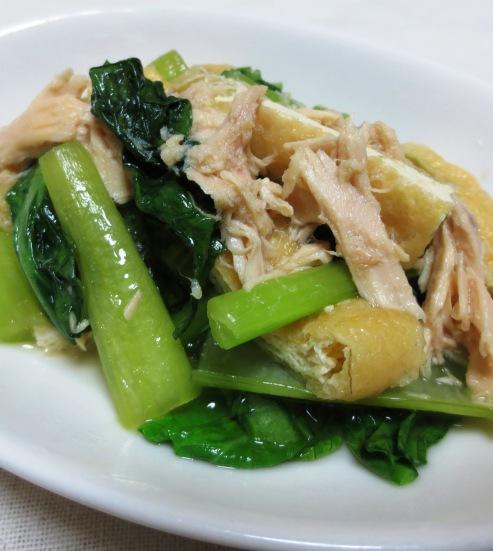 小松菜とツナの煮物 大