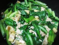 小松菜とツナの煮物 調理②