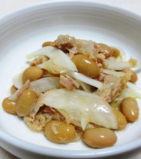 ツナと蒸し大豆のサラダ B