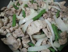 豚こまの花椒しょうが焼き 調理④