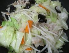 野菜たっぷりタンメン 調理②