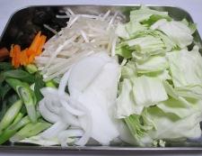 野菜たっぷりタンメン 【下準備】②