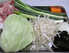 野菜たっぷりタンメン 材料①